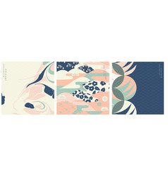 japanese pattern and icon oriental wedding vector image