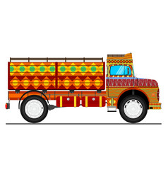jingle truck vector image