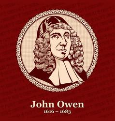 John owen was an english nonconformist church vector