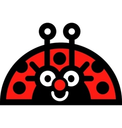Lady bug sticker vector