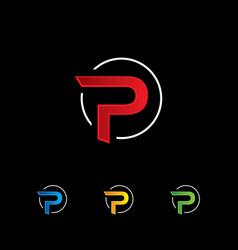 letter p logo symbol vector image