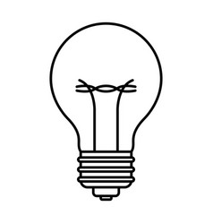 light bulb icon in black contour vector image