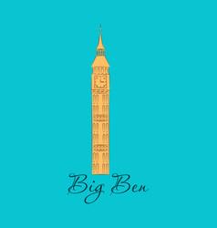 London landmark the big ben clock-tower vector