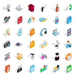 Mail technology icons set isometric style vector