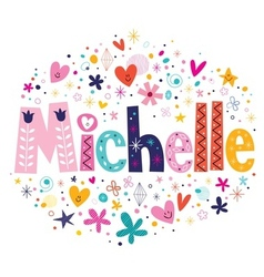 Michelle name design vector