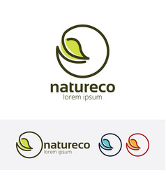 Nature eco logo vector