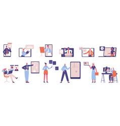 online business coaching webinar online vector image