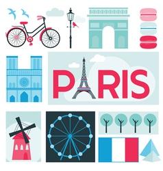 Paris Card - Places and Museum in Paris vector