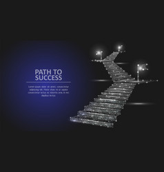 Path to success geometric polygonal vector