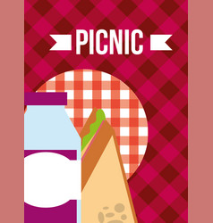 Picnic food image vector