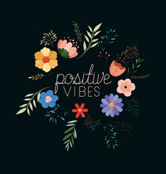 Positivism message with hand made font vector