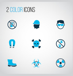 Protection icons colored set with keep door closed vector
