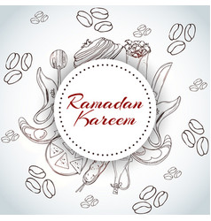 ramanad kareem invitation card arabic background vector image