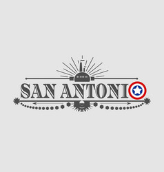 San antonio city name vector