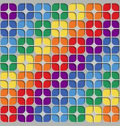 seamless abstract geometric leaf rainbow pattern vector image