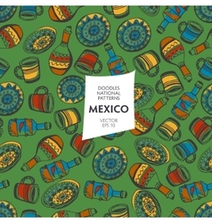 Seamless pattern tourist attractions mexico vector