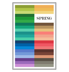 Seasonal color analysis palette for spring type vector