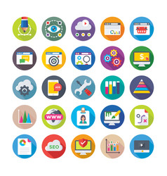 Seo and digital marketing icons 2 vector