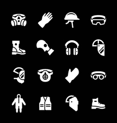 Set icons of personal protective equipment vector image