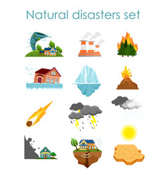 set of color icons natural vector image