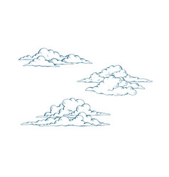 set of cumulus clouds vector image