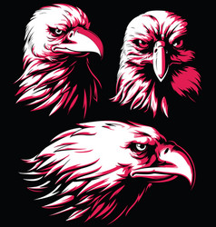 Silhouette eagle falcon head logo isolated vector