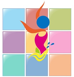Sport icon design for synchronized swimming vector