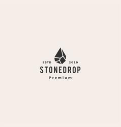 stone drop logo icon hipster vintage retro vector image