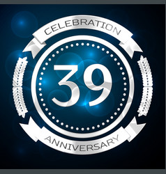 thirty nine years anniversary celebration with vector image