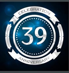 Thirty nine years anniversary celebration with vector