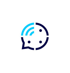 Three people talk signal wireless group 3 chat vector