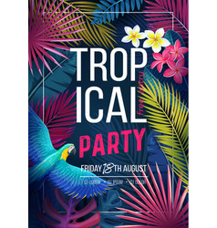 Tropical party banner vector