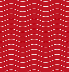 Wavy line red seamless pattern vector