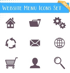 Website menu icons vector image