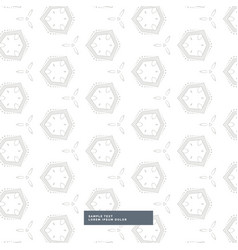 white background with gray geometric pattern vector image