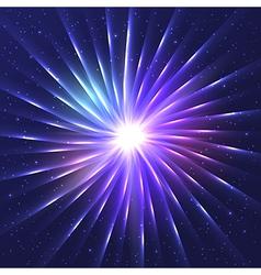 Abstract neon shining star vector image