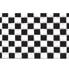 Checkered Grunge vector image vector image