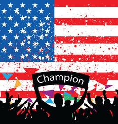 crowd cheer America vector image vector image
