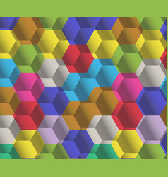 great colorful pattern of contrast pentagon vector image