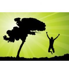 man jumping illustration vector image vector image