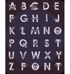 Polygonal geometric font vector