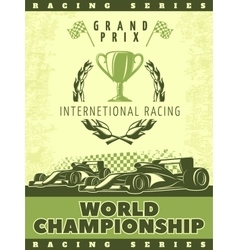 Racing Green Poster vector image