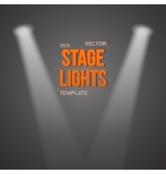 Transparent light effect bright stage vector