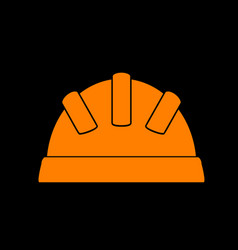baby sign orange icon on black vector image vector image