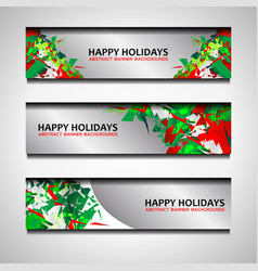 christmas and new year banners design vector image