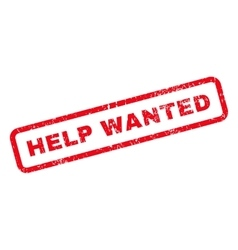 Help Wanted Text Rubber Stamp vector image