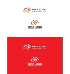 library meters logo vector image vector image