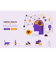 Mental health concept vector image