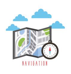 navigation city map compass destination concept vector image