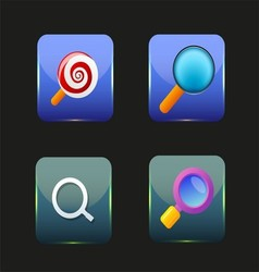 Search Icon Colorful Collection vector image
